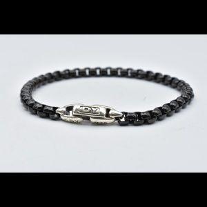 David Yurman acrylic bracelet with silver clasp